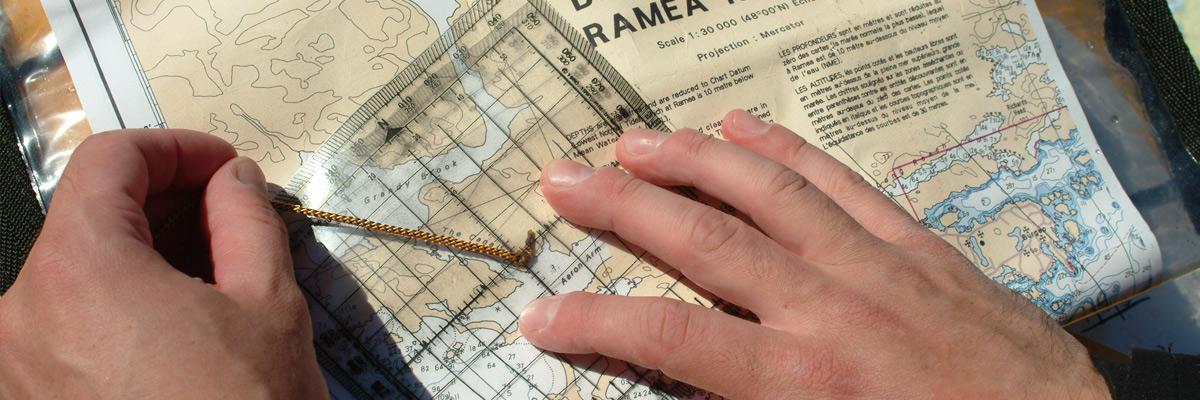 A nautical chart.