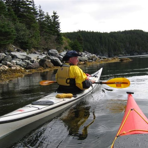 A sea kayak
